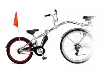 Tandeminis dviratis CO-PILOT Sidabrinis